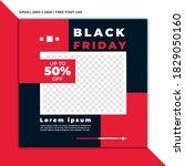 vector modern black friday... | Shutterstock .eps vector #1829050160