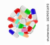 vector circle of pills and... | Shutterstock .eps vector #1829051693