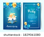 celebration of 45th years... | Shutterstock .eps vector #1829061080