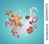 3d Render  Gingerbread Man ...