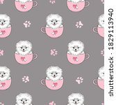 seamless pattern with cute... | Shutterstock .eps vector #1829113940