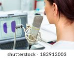 voice acoustic analysis | Shutterstock . vector #182912003