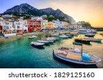 Marina Grande Port On Capri...