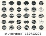 collection of vintage retro... | Shutterstock .eps vector #182913278