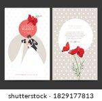 wedding invitation design.... | Shutterstock .eps vector #1829177813
