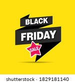 black friday sale banner layout ...   Shutterstock .eps vector #1829181140