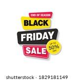 black friday sale banner layout ...   Shutterstock .eps vector #1829181149
