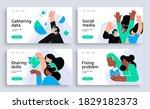 set of presentation slide... | Shutterstock .eps vector #1829182373
