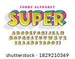trendy comical original... | Shutterstock .eps vector #1829210369
