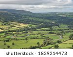 View Of The Usk River Valley....