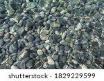 Top View Of Stones Under Water...
