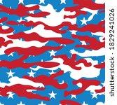 vector seamless camo us army... | Shutterstock .eps vector #1829241026