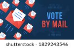vote by mail vector... | Shutterstock .eps vector #1829243546