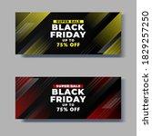 black friday sale horizontal... | Shutterstock .eps vector #1829257250