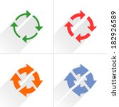 4 arrow icon. set 04. reset ...