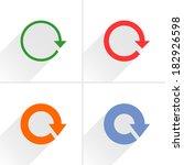 4 arrow icon. set 01. reload ...