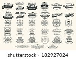 collection of vintage retro... | Shutterstock .eps vector #182927024
