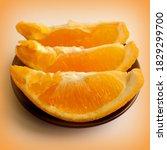 Sliced Orange. Three Orange...