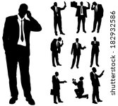 vector silhouette of business... | Shutterstock .eps vector #182932586