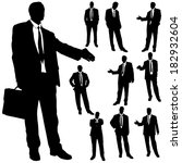 vector silhouette of business... | Shutterstock .eps vector #182932604