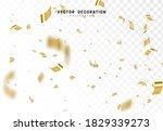 falling shiny golden confetti... | Shutterstock .eps vector #1829339273
