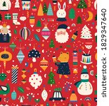 vintage christmas vector... | Shutterstock .eps vector #1829347640