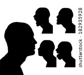vector silhouettes man in... | Shutterstock .eps vector #182935928