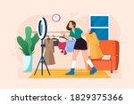 beauty blogger selling shirt... | Shutterstock .eps vector #1829375366