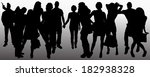 vector people silhouette on a... | Shutterstock .eps vector #182938328