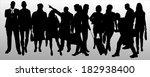 vector silhouette of business... | Shutterstock .eps vector #182938400
