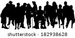vector people silhouette on a... | Shutterstock .eps vector #182938628