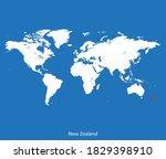 vector map of the new zealand | Shutterstock .eps vector #1829398910