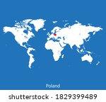 vector map of the poland | Shutterstock .eps vector #1829399489