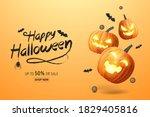 happy halloween banner  sale... | Shutterstock .eps vector #1829405816