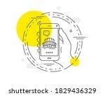 sports stadium line icon....   Shutterstock .eps vector #1829436329
