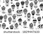 seamless pattern with hot air...   Shutterstock .eps vector #1829447633