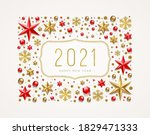 new year 2021 greeting... | Shutterstock .eps vector #1829471333