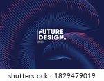 gradient lines composition... | Shutterstock .eps vector #1829479019