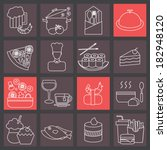 thin line icons set for cooking ... | Shutterstock .eps vector #182948120