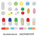 large vector set of tablets and ... | Shutterstock .eps vector #1829485559