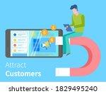 attracting online customers.... | Shutterstock .eps vector #1829495240