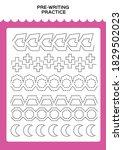 tracing practice for kids. pre...   Shutterstock .eps vector #1829502023