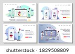 set of web pages for medical... | Shutterstock .eps vector #1829508809