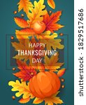 happy thanksgiving day card... | Shutterstock .eps vector #1829517686
