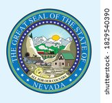 seal of nevada  the great seal... | Shutterstock .eps vector #1829540390