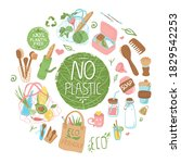 a collection of eco friendly ...   Shutterstock .eps vector #1829542253