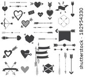 hearts and arrows set   for... | Shutterstock .eps vector #182954330