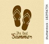 beach icons over beige... | Shutterstock .eps vector #182956754