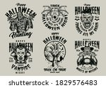 halloween night vintage designs ... | Shutterstock .eps vector #1829576483