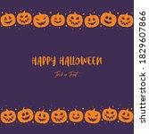 happy halloween. concept of... | Shutterstock .eps vector #1829607866